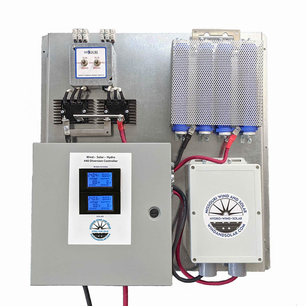 All In One Sky440 Charge Controller Board with Brake Switch and Solar Combiner Box