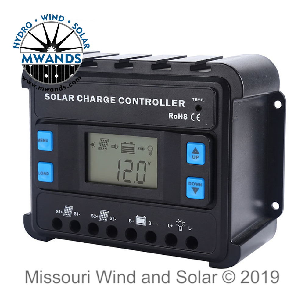 ENS Series PWM Solar Charge Controller with LCD Display