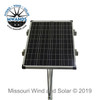 Single Solar Panel Top of Pole Style Mounting Kit