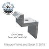UniRac SolarMount End Clamps A-F and J-K