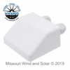 ABS Solar Panel Roof Mount Double MC4 Entry Gland Brackets