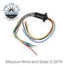 180 Amp 6 Wire Slip Ring for Wind Turbine Generators