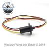 90 Amp 3 Wire Slip Ring for Wind Turbine Generators