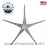 5 Raptor Generation 4 Wind Turbine Blades and Hub Gray