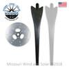 7 Blade Wind Turbine Hub and 2 Blade Upgrade Kit