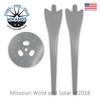 9 Blade Wind Turbine Hub with Gray Raptor Generation 4 Blades