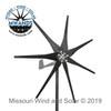 500 Watt 7 Blade Black Wind Turbine for Off-Grid Charging