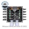 6 x 6 Inch 20 Connector MC4 Solar Combiner Box Inside