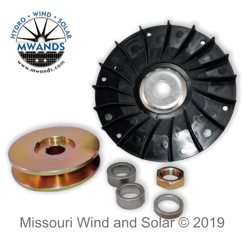 Fan and 80 mm Single Pulley for Hydro PMA