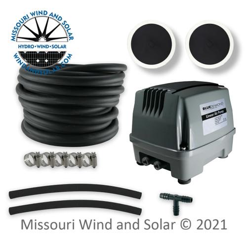 80 Liter Air Pump & Pond Aeration Kit