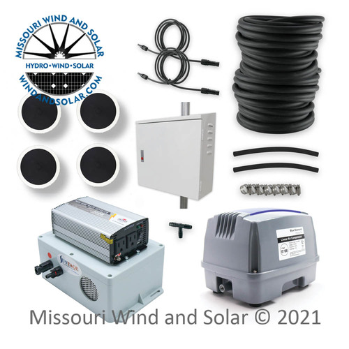 120L Pond Aeration Kit With Suntaqe Inverter Charger