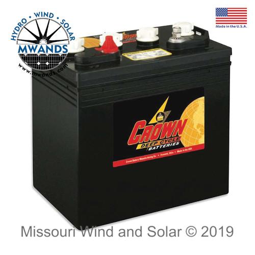 Crown 220AH 6-Volt Deep Cycle Battery