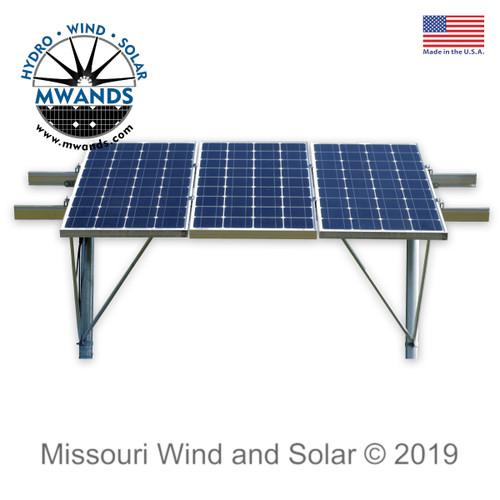 Solar Panel Mounting Rack for Three 100 Watt Solar Panels