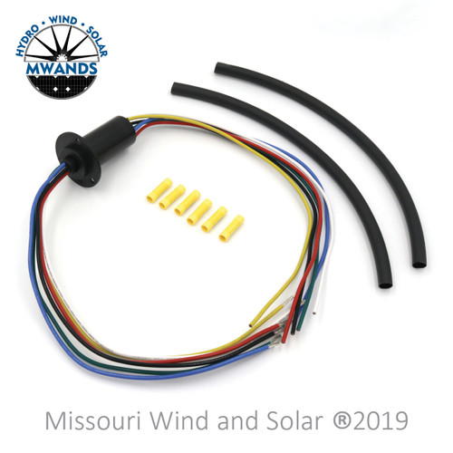 180 Amp 6 Wire Slip Ring Kit