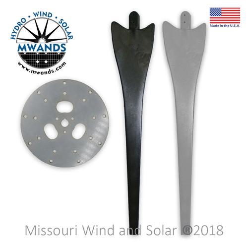 9 Blade Wind Turbine Hub with Optional Raptor Generation 4 Blade Set