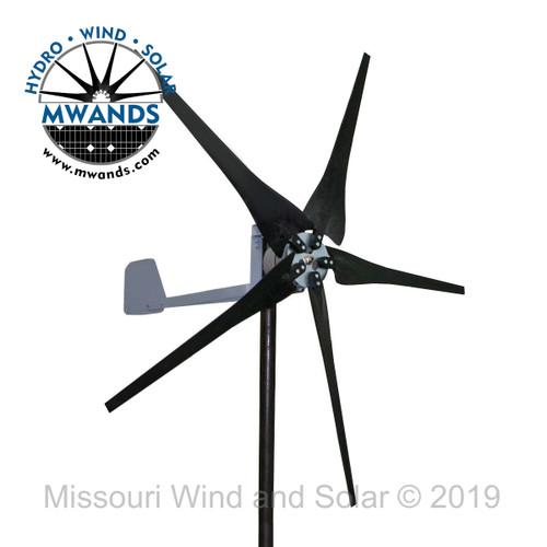 500 Watt 5 Blade Black Wind Turbine for Off-Grid Charging