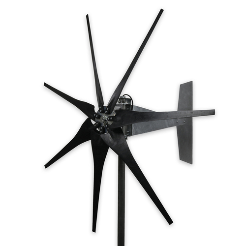 7 Blade Raptor Generation 4 Wind Turbine with Black Blades