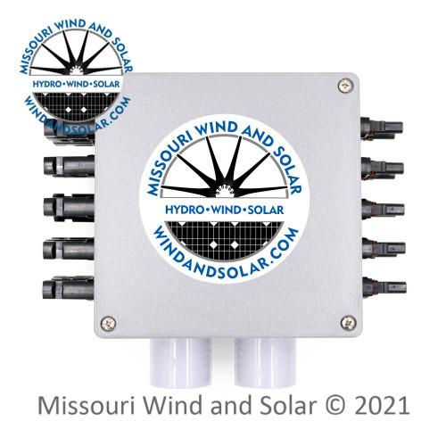6 x 6 Inch 20 Connector MC4 Solar Combiner Box