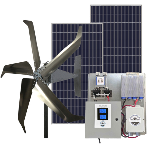Hybrid Wind and Solar Off-Grid Kit for 24 Volt Systems