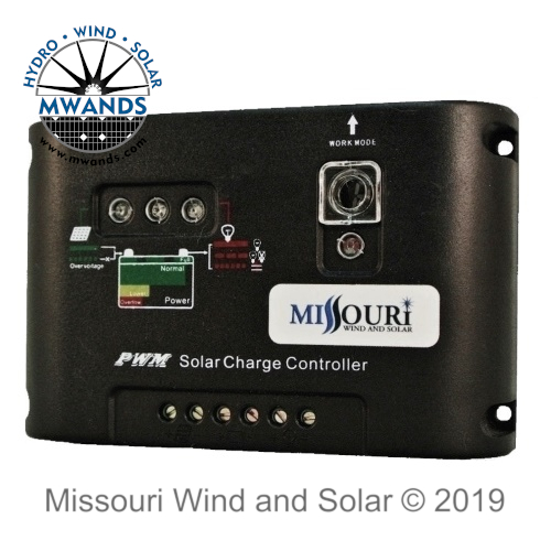 12/24 Volt PWM Solar Panel Charge Controller with LED Display