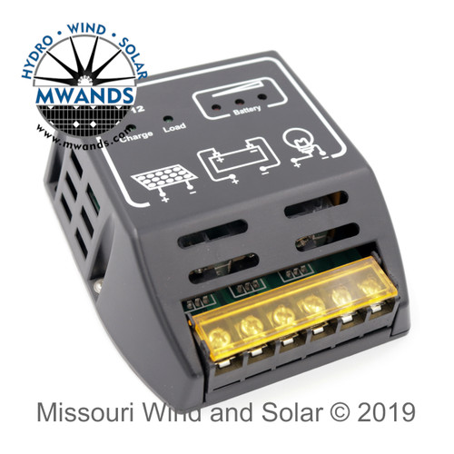 10 Amp 12 or 24 Volts Auto Detect Solar Charge Controller
