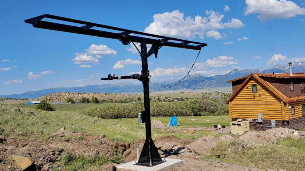 Missouri Wind and Solar Timed Tracker Solar Panel Mounting System Customer Install 2