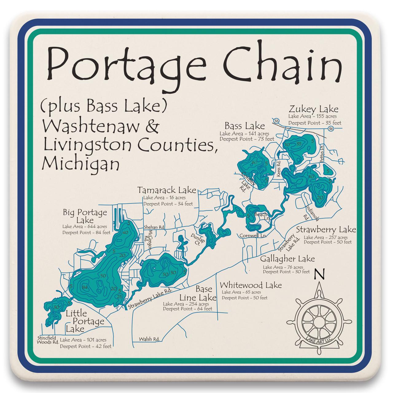 Portage lake chain michigan