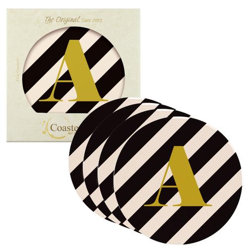 Classy Black Stripes Monogram