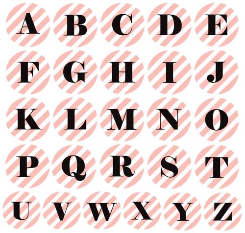 Classy Pink Stripes Monogram