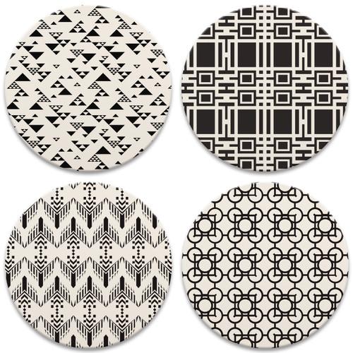 Frank Lloyd Wright® Black and White Patterns
