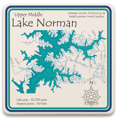 Upper Middle Lake Norman LakeArt