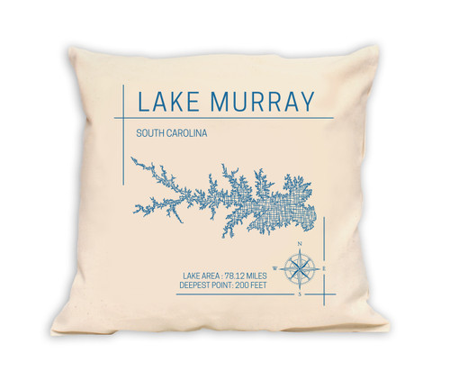Our lake art pillows are a beautiful and unique way to decorate your home or vacation cabin.  All of our lakes are reproduced in beautiful artwork that fully represents each lake down to the finest detail. An ideal decorative gift for friends and family members, our pillows also make wonderful lake art souvenirs to keep for yourself. 100% cotton canvas. 16″ x 16″  *Product image does not display selected lake.
