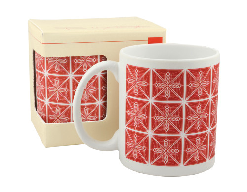 Frank Lloyd Wright © Dana-Thomas Poinsettia 11 Oz. Mug