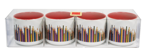 Frank Lloyd Wright © Colored Pencils Espresso Set 6 Oz. Mug Set