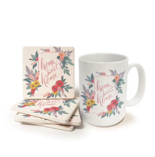 Home Sweet Home Indiana Mug and Coaster Gift Set