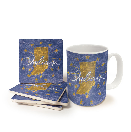 Indiana Mug and Coaster Gift Set