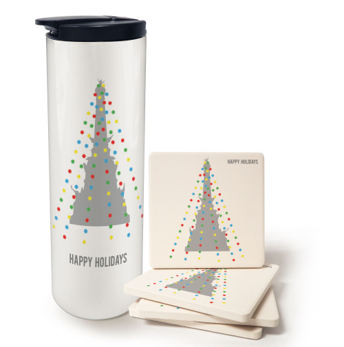 Light Up the Town Barista and Coaster Gift Set