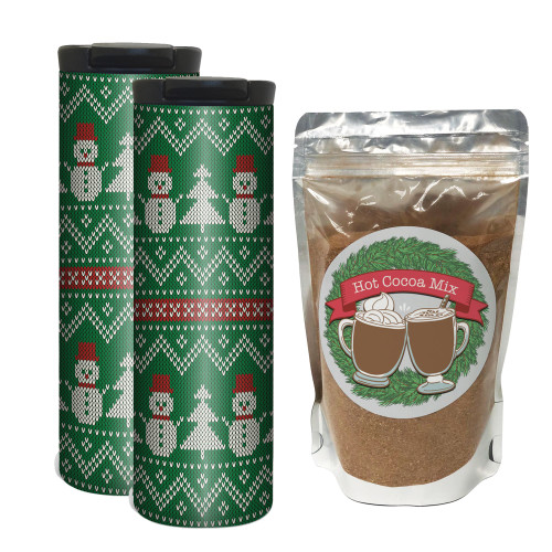 Holiday Knitted Sweater Hot Chocolate Gift Set