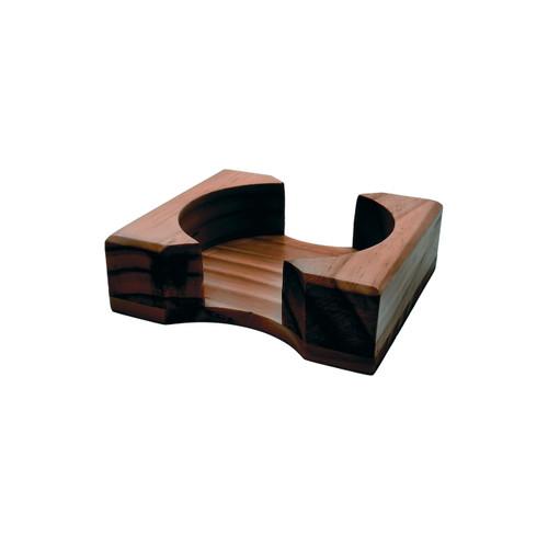 Dark Wood Flat Coaster Stand - Round Coaster