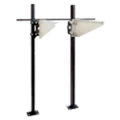 Josam 17380 Floor Mount Carrier w/Adj. Exposed Arms