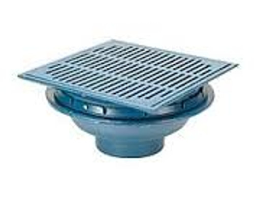 Zurn Z150 14-in. Square Top Promenade Deck Drain w/ Heel-Proof Grate