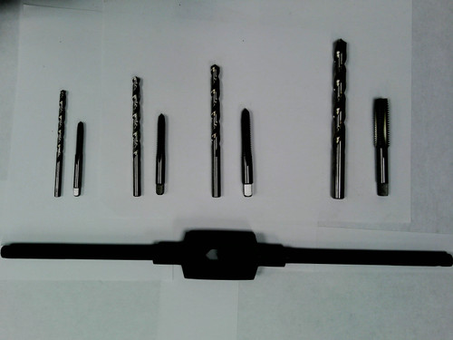 "1/4"" Thru 1/2"" Tap & Drill Set w/ Wrench"