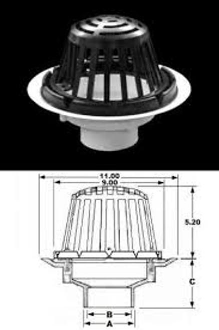 Plastic Oddities PRD900P PVC Roof Drain Complete