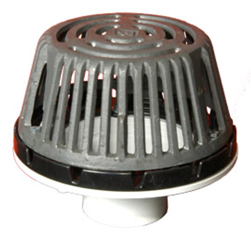 Marathon BS-1100 PVC Roof Drain with Cast Iron Dome