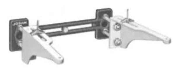 Josam 17390 Wall Mount Carrier w/Adj. Exposed Arms
