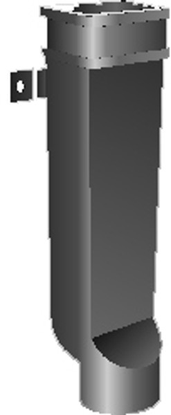 """MIFAB R1520 5"""" x 4"""" x 24"""" Downspout Boot"""