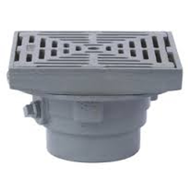 Watts FD-330 Area Drain with 8-in. Square Adjustable Top