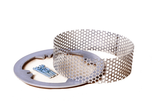 """Zurn 4"""" Stainless Steel Perforated Extension for Z100"""