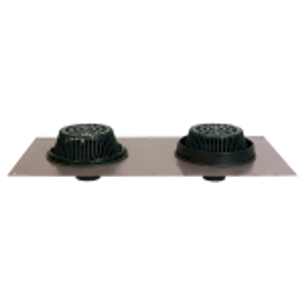 """Josam 22500 15-in. 2""""-6"""" Combo Drain w/Dome [specify Poly or CI]"""