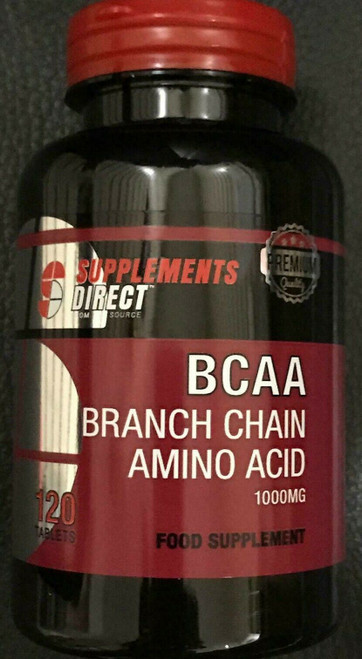 branch chain amino acid 1000mg food suppliment 120 tablets
